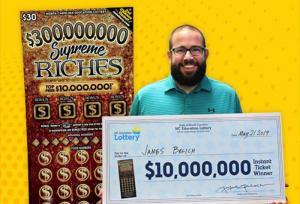 James Belich won $10 Million on scratch cards